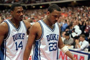 Chris Carrawell (right) was the only senior on the 1999-00 Sweet 16 team.