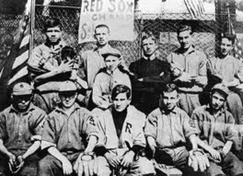 Babe Ruth (top row, far left) on the st. Mary's Industrial School for Boys varsity baseball team. Photo/mysticalrosedesign.blogspot.com