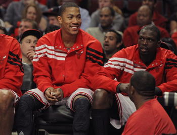 Rose and Deng on Bench