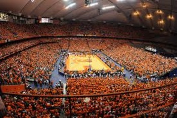 34,616 Orange fans packed into the Dome to set the on-campus attendance record against Villanova in 2010.