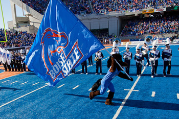 Boise State's blue turf is a joke.