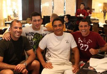From L to R: Royce, Demian Maia, Rickson, and Royler