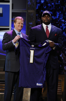 No one will be holding up a No. 1 Ravens jersey this year