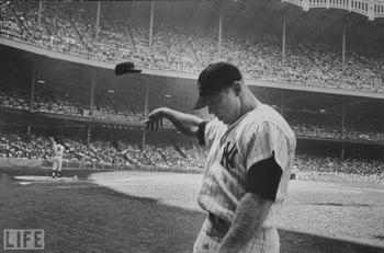 Mickey Mantle in frustration (via LIFE).