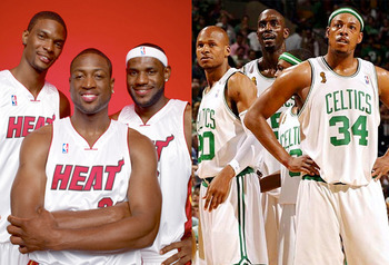 The Big Threes of the Heat and Celtics will square off to determine who will represent the Eastern Conference in the NBA Finals.