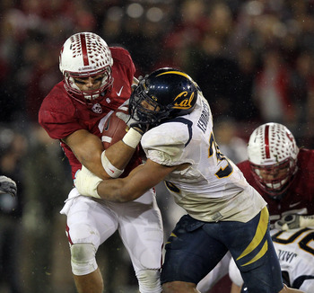 Mychal Kendricks makes a tackle in the 2011 Big Game between Cal and Stanford.