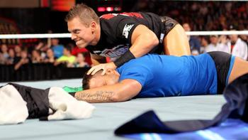 Six days before WrestleMania XXVIII, The Miz would perform the Skull-Crushing Finale on Santino. Courtesy: WWE.com.