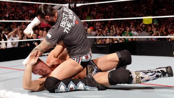 Days before their encounter at Extreme Rules, CM Punk beats down Chris Jericho. Courtesy: WWE.com.