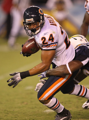 SAN DIEGO - AUGUST 14:  Safety Al Afalava #24 of the Chicago Bears intercepts a pass against the San Diego Chargers on August 14, 2010 at Qualcomm Stadium in San Diego, California.  The Chargers won 25-10.   (Photo by Stephen Dunn/Getty Images)