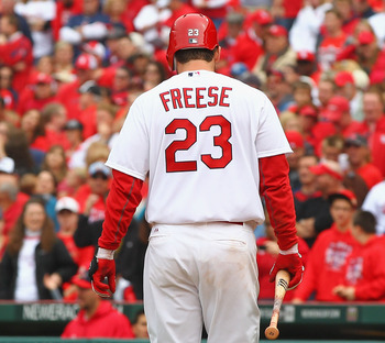 David Freese emerged as a force as last season's World Series MVP.