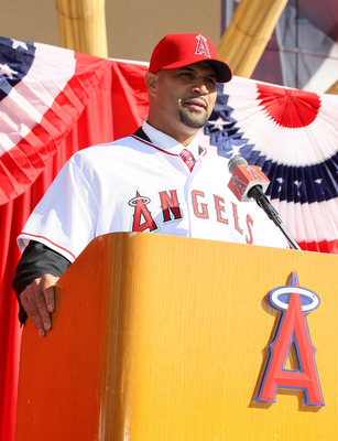Pujols being welcomed to the city of Anaheim and the Angels' organization.
