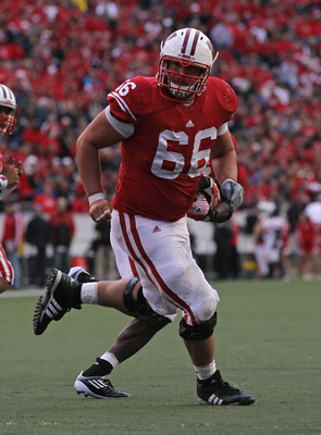 Peter Konz, selected by the Atlanta Falcons