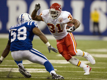 Priest Holmes was the best back in the league for a few years.