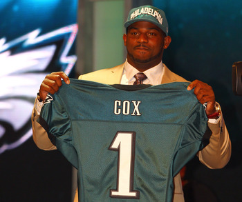 The Eagles moved up to nab Fletcher Cox. Some had mocked Cox to the Seahawks, but he didn't fill an immediate need for Seattle.