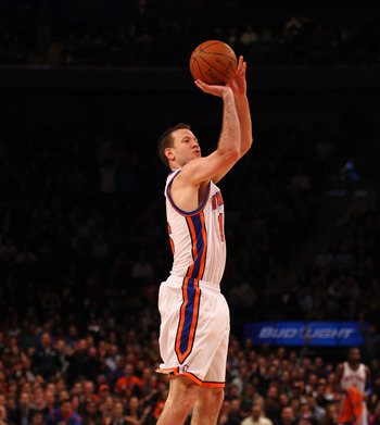 Steve Novak's three point shooting has been a key part of the Knicks bench scoring.