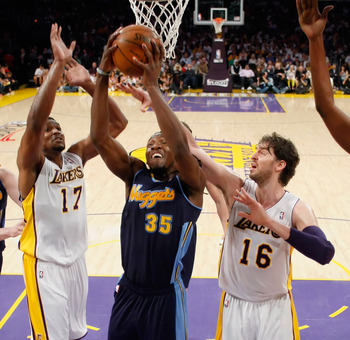 Kenneth Faried might not be tall enough to out-rebound players like Gasol and Bynum
