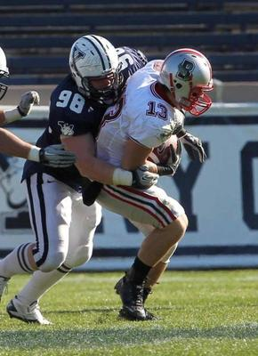 Stoller was a solid defender in the Ivy League but that may not translate well to the NFL (Photo courtesy: YaleBulldogs.com)