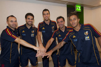 Andres, Cesc, Busi, Xavi, and Thiago