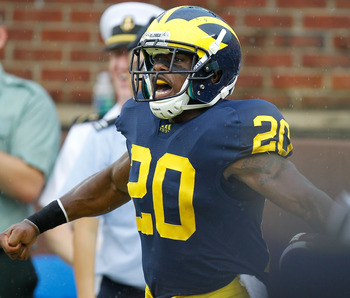 Although he was never a feature back, Michael Shaw was always in the mix during his four years for Michigan.