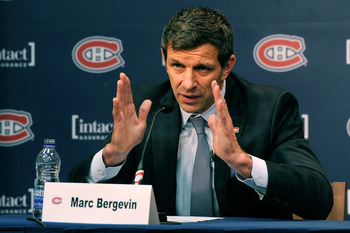Newly-named Habs' GM Marc Bergevin will face his first tough test in July.