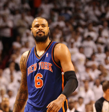 Tyson Chandler is a great basketball player but he's not much of a scorer.