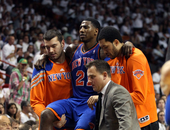 Shumpert's face says it all. His season is over.