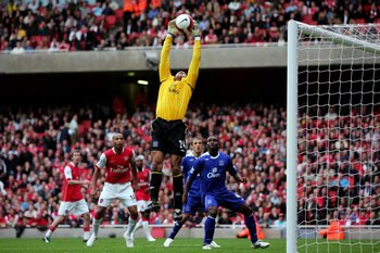 Tim Howard did all he could to keep Arsenal at bay in 2007