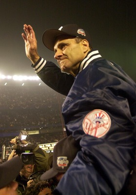 Joe Torre after the Yankees won the World Series in 2000.