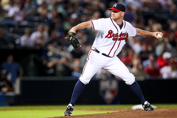 Jonny Venters had a rough game against the Phillies in the first game of the series.