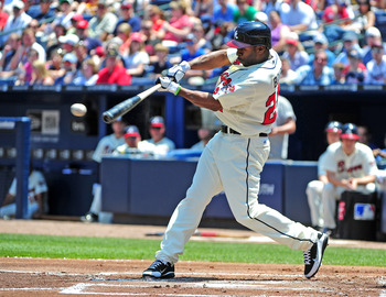 Michael Bourn is able to create offense with his legs.