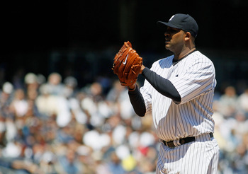 NEW YORK, NY - APRIL 29:  CC Sabathia #52 of the New York Yankees pitches against the Detroit Tigers at Yankee Stadium on April 29, 2012 in the Bronx borough of New York City.  (Photo by Mike Stobe/Getty Images)
