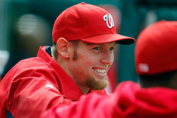 Wouldn't you smile if you could throw a baseball like Stephen Strasburg?