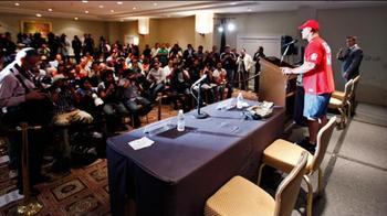 John Cena at a press conference in Mexico City. The WWE is truly an international phenomenon. (Image courtesy of WWE.com)