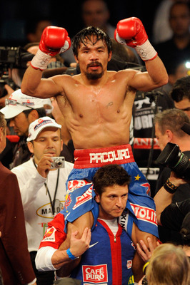 "Look hard, you can just make out the ""Gash"" Pacquiao suffered against Marquez"