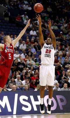 The Aztecs lost to NC State, but Tapley tried his best with shots like this.