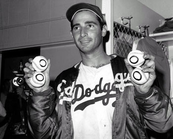 Sandy Koufax after throwing his fourth no-hitter.