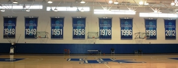 Championship Banners at the Joe Craft Center