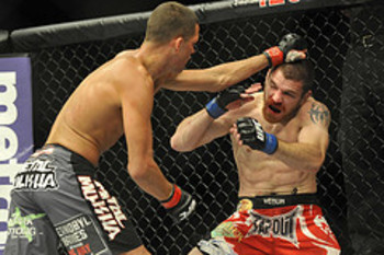 Nate Diaz and Jim Miller - Joe Camporeale/US PRESSWIRE