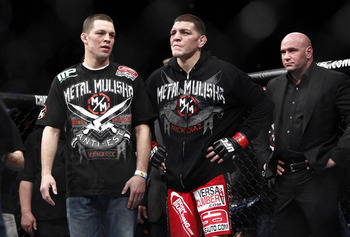 Nick (L) and Nate Diaz (Esther Lin/AOL)