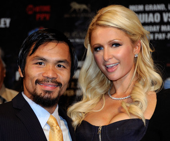Manny Pacquiao and Paris Hilton