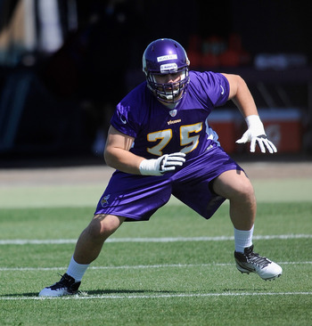Even without pads, Matt Kalil looks like a force the Vikings need at left tackle.