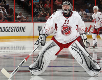 Quick representing the Kings at the 2012 NHL All-Star Game in Ottawa.