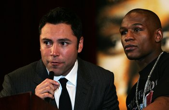 Oscar De La Hoya and Floyd Mayweather hoping to get rich together