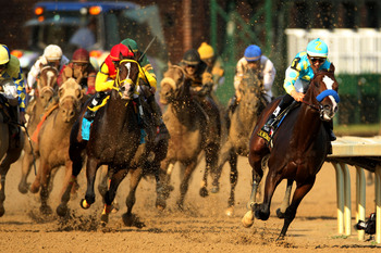 Bodemeister let his big lead slip away late.