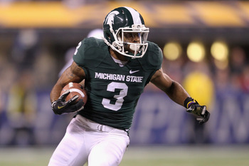 Michigan State will surely miss its top target from 2011—B.J. Cunningham, who had over 1,000 receiving yards.
