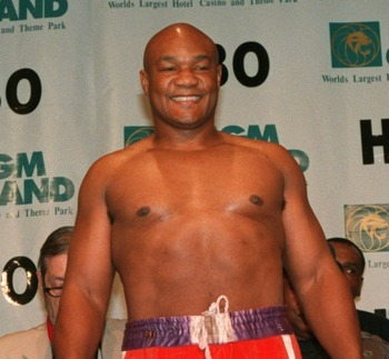 George Foreman at the 1994 weigh-in