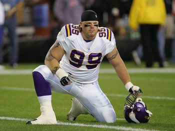 Over his five-year career in Minnesota, Chris Hovan never accumulated over 52 tackles or six sacks.