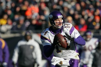 In nine seasons as a Minnesota Viking, Brad Johnson started 46 games and threw 65 touchdowns compared to 48 interceptions.