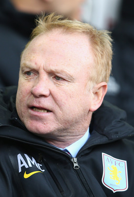 The fans have given Villa manager Alex McLeish a hard time this season - apparently as much for his Blues background as for the team's performance!