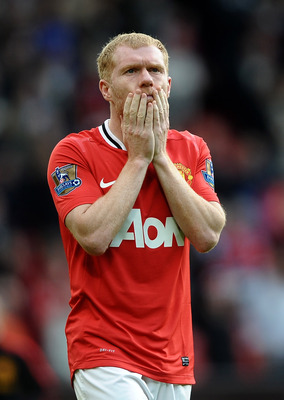 Paul Scholes returned from retirement to bolster United's midfield but how much longer can he go on?